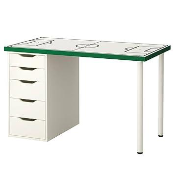 Kinder Schreibtisch Ikea.Limmaland Möbelaufkleber Fußballfeld Weiß Passend Für Ikea