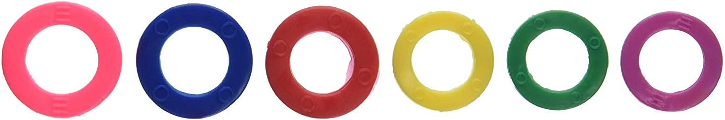 Color Code Key Rings Assorted Sizes Plastic Tags (Pack of 6 Tag) [並行輸入品]