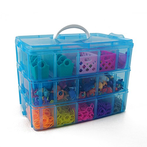 Bins u0026 Things Stackable Storage Container for Shopkins Littlest Pet Shop Rainbow Loom Beads Disney Tsum Tsum Figures and Arts u0026 Crafts Accessories with 30 ...  sc 1 st  Amazon.com & Rainbow Loom Organizer: Amazon.com