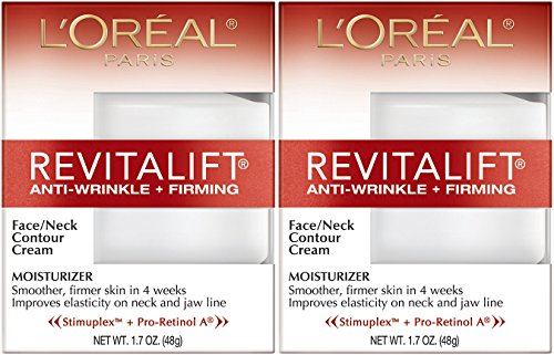 - L'Oreal Paris RevitaLift Anti-Wrinkle + Firming Face & Neck Contour Cream, 1.7 Fluid Ounce (Pack of 2)