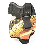 Infused Kydex USA We The People Tan IWB Hybrid Concealed Carry Holster (Right-Hand, Kahr CW9)