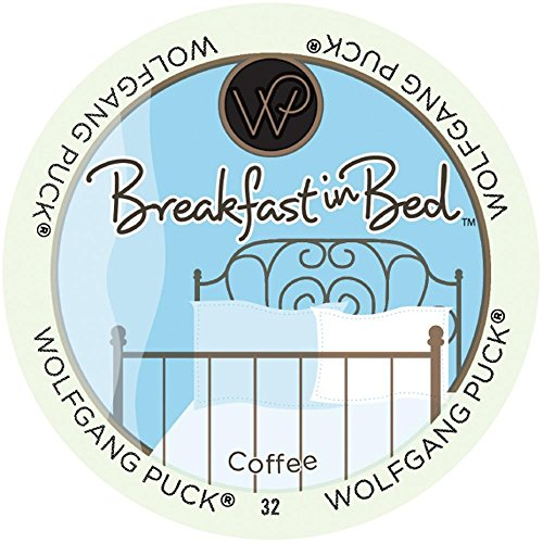 Wolfgang Puck Coffee, Breakfast in Bed (Medium Roast),  24-Count K-Cups for Keurig Brewers