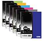BAZIC W/R 100 Ct.1-Subject Poly Cover Spiral Notebook, Case Pack 24