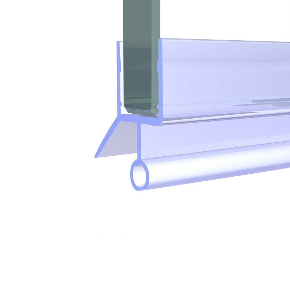 Duschdichtung mit Wasserabweiser f/ür Duschkabine mit 7-8mm Glasdicke Meykoe 100cm Duscht/ür Dichtung Ersatzdichtung