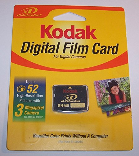Kodak 64mb XD Memory Card - xD Picture Card - New in Retail Package