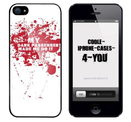 Iphone 5 Case My dark passenger made me do it Rahmen schwarz