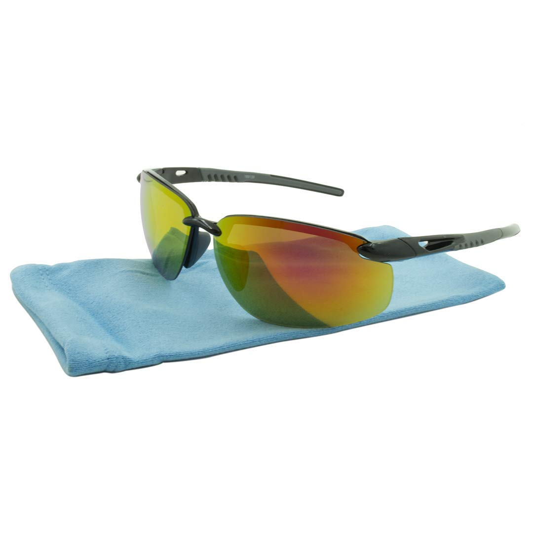 Orange-LR169139GRY Frame Black and Grey Lens Sport Tahoe Alta Vision Sunglasses