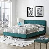 Modway Linnea Upholstered Teal Full Platform Bed