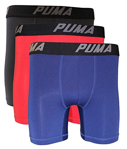 Puma Men's 3-Pack PMTBB 3-Pack Boxer Brief Sport Stretch Bright Red M -