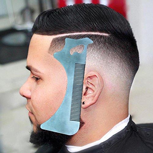 Hangdawuzi Beard Styling and Shaping Template Comb Tool ( Lining / Shaping / Edging ) (Beard Styling (Beard With Goatee)