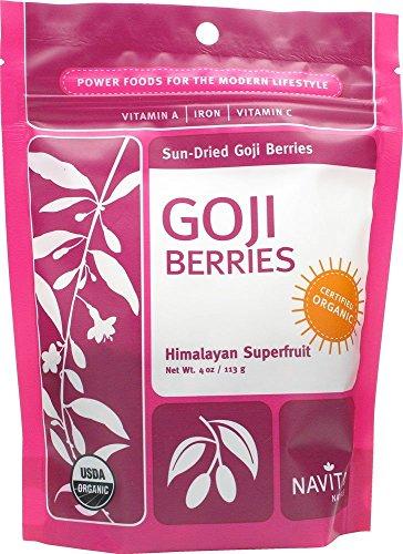 - Navitas Naturals Organic Sun Dried Goji Berries, 4 Ounce - 12 per case.