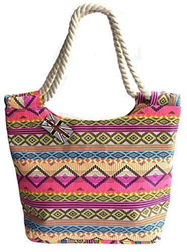 Design Octave Multicoloured Aztec da spiaggia Donna Borsa raXq7r