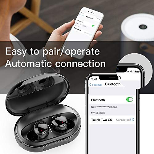 Wireless Earbuds Bluetooth 5.0 Headphones, 120H Playtime Deep Bass Stereo Sound Earbuds with Microphone, IPX8 Waterproof Headphones with Charging Case for Sports