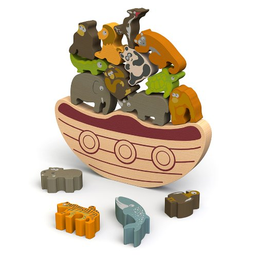 BeginAgain - Balance Boat Endangered Animals Game, Make Learning Fun and Help Spark Your Child's Imagination, Helps Promote Active Play and Develop Motor Skills (For Kids 3 and Up)