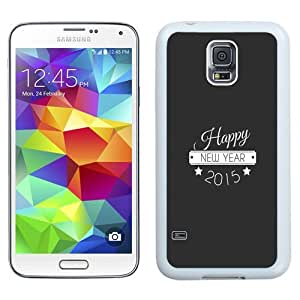 NEW Unique Custom Designed Samsung Galaxy S5 I9600 G900a G900v G900p G900t G900w Phone Case With Happy New Year Typography_White Phone Case