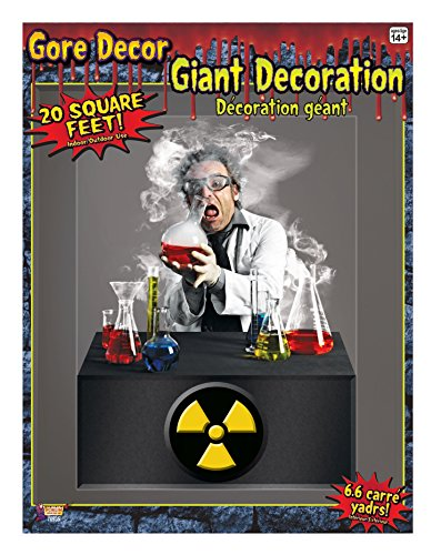 Forum Novelties Gore Decor Indoor/Outdoor Scientist Wall Decoration, 5', (Halloween Science Lab Props)