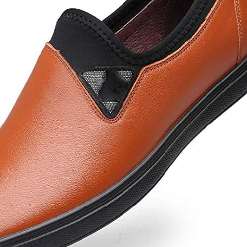 Traspirante per da Pelle da Scarpe da Scarpe in in Casual Uomo Uomo Pelle Uomo Orange Scarpe Uomo U8qqnfHwZ