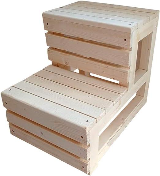 Escalera de Madera de 2 Niveles para el hogar, escaleras de Cama de Madera para Adultos, Abuelos, Mascotas, Estructura de tenón Duradera, 42 cm de Altura: Amazon.es: Juguetes y juegos