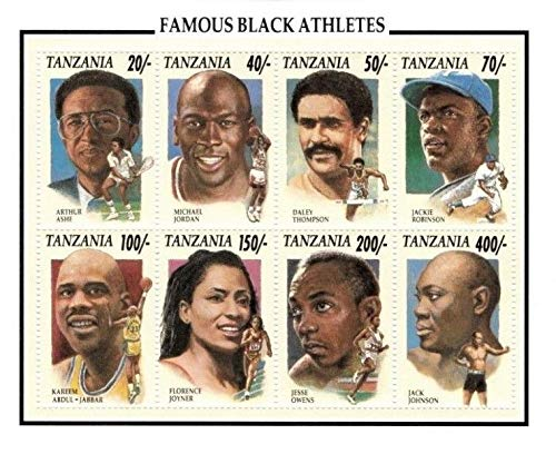 Sports - Famous Black Athletes - Jordan, Ali, Robinson - Limited Collectors Stamps - Tanzania