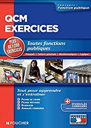 QCM et exercices de Français culture générale mathématiques logique Catégories A,B et C (Concours Fonction Publique)