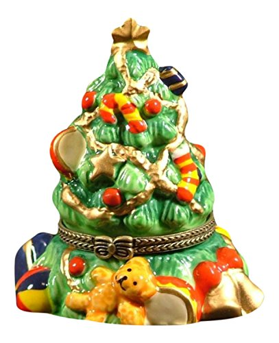 Christmas Xmas Gift Tree With Toys and Bear Trinket Box