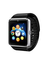 Bluetooth Smartwatch with Camera, Amazingforless GT08 Smart Watch with Sim Card Slot for Android Smartphones
