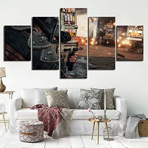 mmwin Decoración para el hogar Impresiones Imagen 5 Piezas Arte ...