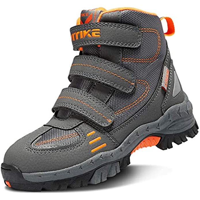 Kid Snow Boots for Boys Snow Shoes Winter Boots for Girl Sneaker Hiking Boots Outdoor Steel Buckle Anti-Slip Boots(Toddler/Little Kid/Big Kid)