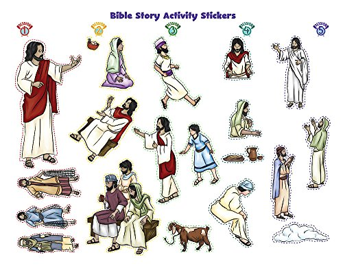 Vacation Bible School (VBS) 2018 Rolling River Rampage Bible Story Activity Stickers (Pkg of 6): Experience the Ride of a Lifetime with (Rolling Activity)