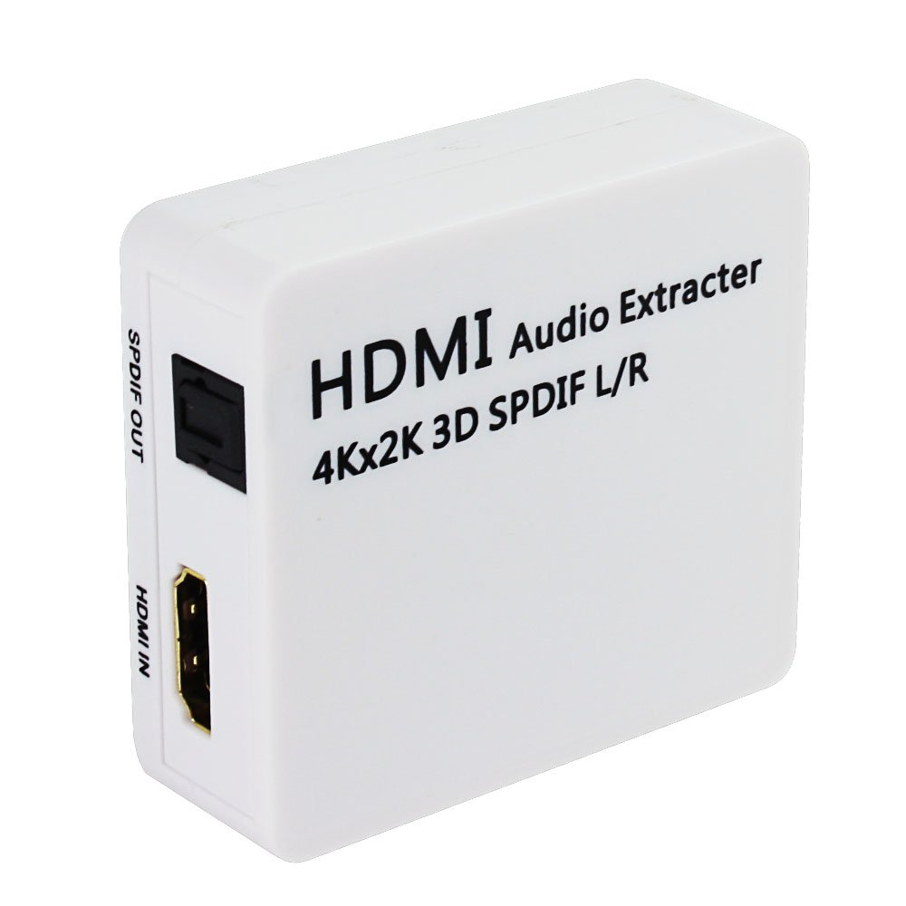 HDMI Audio Extractor, SQDeal 4K x 2K HDMI to HDMI + Optical Toslink(SPDIF) + 2RCA(L/R) Analog Outputs Video Splitter Adapter Converter(Black)