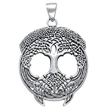 Solstice Tree of Life Celtic Knot Branches and Roots Sterling Silver Pendant