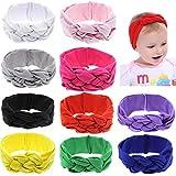 Globalsupplier Boutique Celtic Knot Headband Bulk for Infant Baby Girl Kids Toddlers (10 PCS PACK S16)
