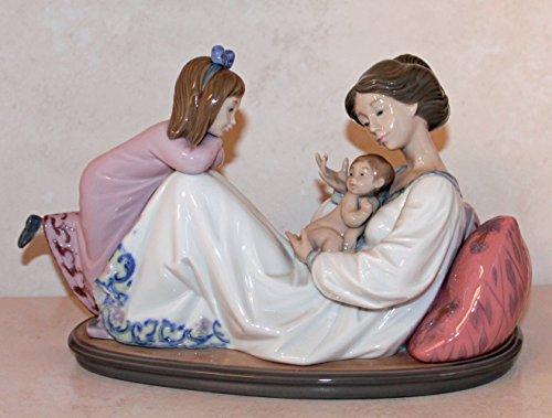 Lladro Latest Addition 1606 Retired - Mother Daughter and New Born