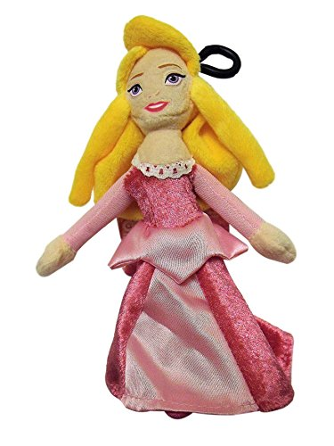 Disney Princess Aurora Sleeping Beauty 7 Tall Plush Character Soft Zip Backpack Clip (Sleeping Beauty Backpack)
