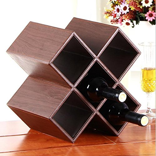 Jingzou Grape red wine frame creative wood structure decoration wine rack home jewelry wine (Pewter Corner Connector)