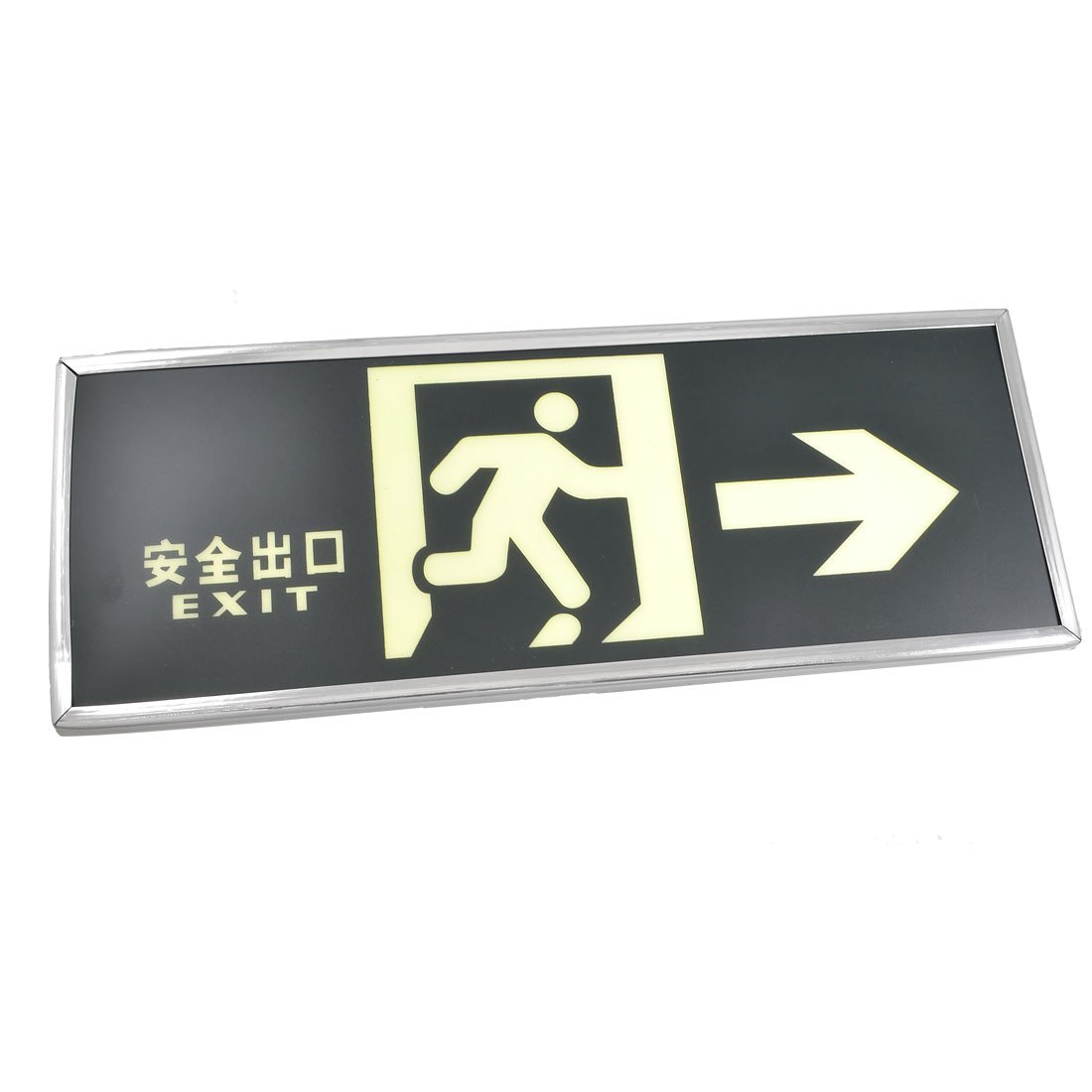 uxcell Glow in The Dark Running Man Pattern Right Arrow Emergency Exit Sign