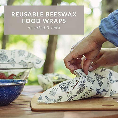 Bee's Wrap – Assorted Set of 3 – Certified B Corporation – No Synthetic Wax or Chemicals – Holds for Up to a Year…