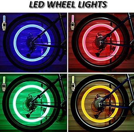 Doggo Professional LED Wheel Lamp Waterproof Single Induction Vibration Function Blue