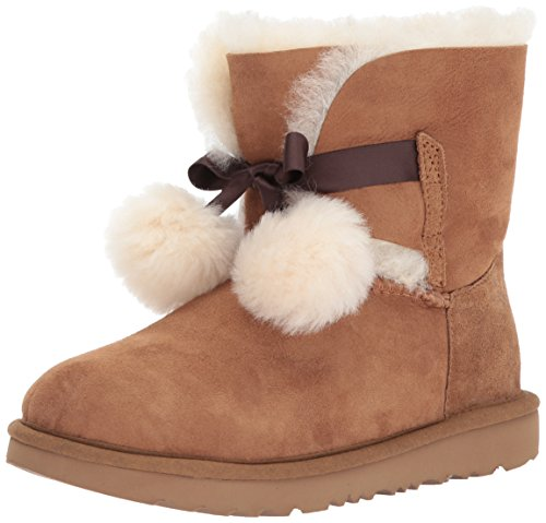 UGG Girls K Gita Pull-on Boot, Chestnut, 5 M US Big Kid by UGG