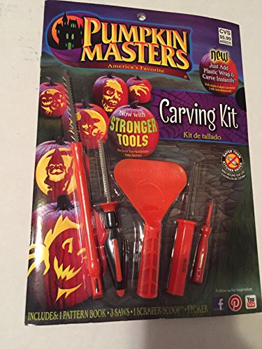 Pumpkin Masters America's Favorite Pumpkin Carving Kit Now with Stronger Tools ()