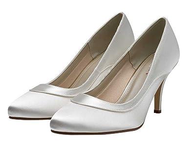 fc5b4e4ade Rainbow Club Nicole - Elegant Wedding Court Shoes Ivory Satin ...