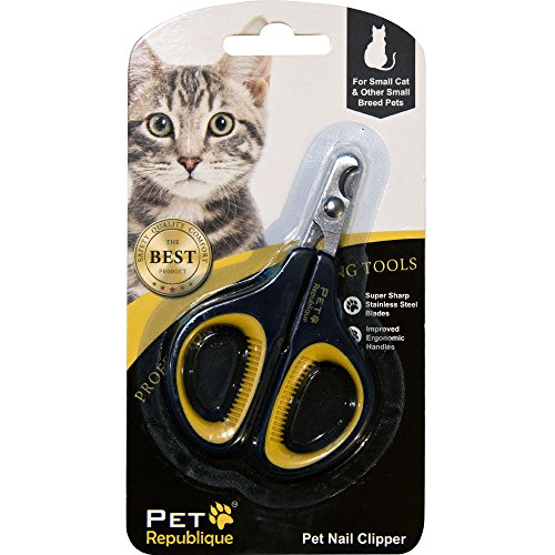 Pet Republique Cat Nail Clippers - Professional Claw Trimmer for Cat, Kitten, Hamster, Small Breed Animals - Mini Clipper Design
