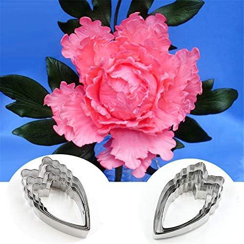 牡丹 花 花弁 セット 陶器 と セラミック スツール ポリマー 一般 柔らかい 紙 粘土 カッター 形状 シルバー