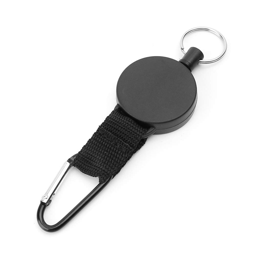 FATTERYU Safety Anti-lost Steel Rope Burglar Keychain Retractable Quickdraw Keyring Clip