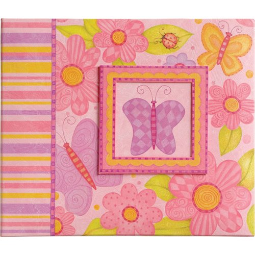 K&Company 12-Inch by 12-Inch Young Girl Postbound Scrapbook