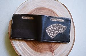 Unik4art - House Stark Game of thrones men wallet personalized Gifts custom bifold ID card photo folder