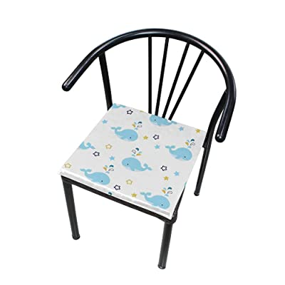 "Bardic HNTGHX Outdoor/Indoor Chair Cushion Ocean Animal Whale Square Memory Foam Seat Pads Cushion for Patio Dining, 16"" x 16"": Home & Kitchen"