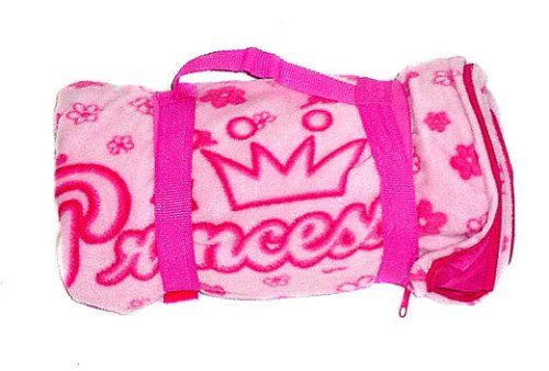 Princess Fleece Sleeping Bag/Mat – Pink Crowns, Outdoor Stuffs