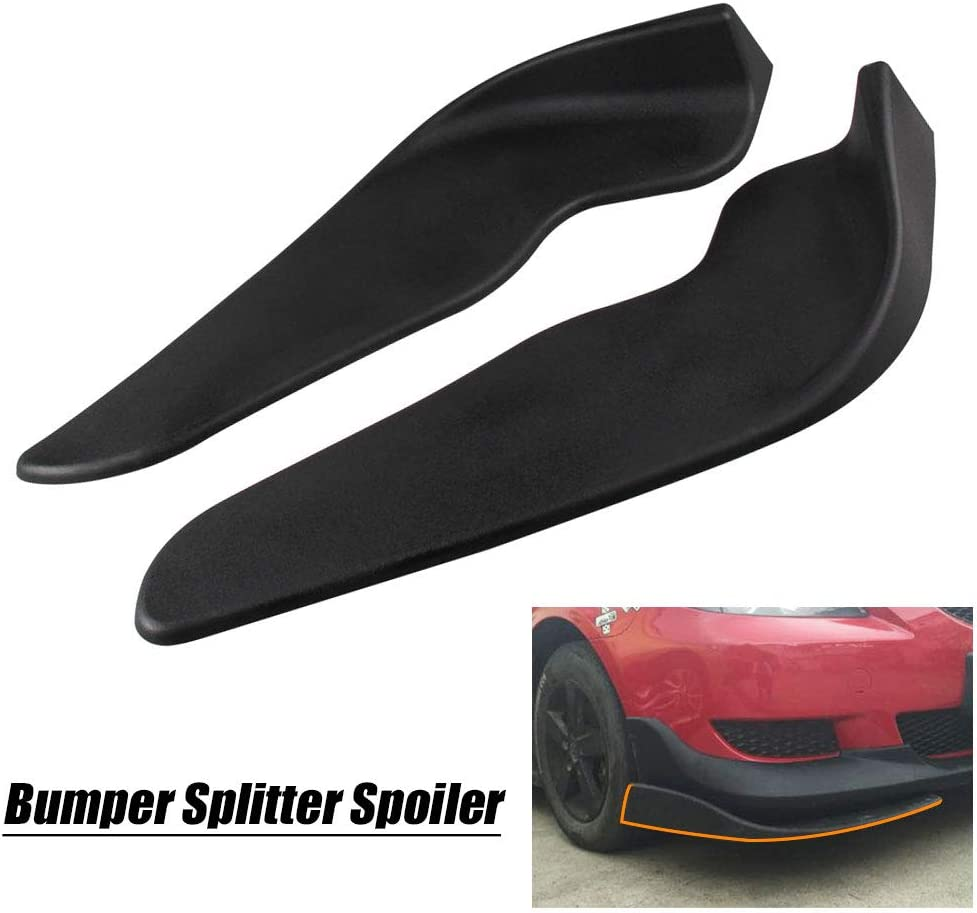 Ruien 2PC Universal Surface Front Bumper Lip Splitters Diffuser Winglets for Auto Car Universal Car Bumper Splitter Spoiler