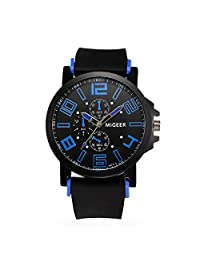 Men Quartz Watch,ODGear Cheap Hours Wrist Watch Silicone Strap Sport NW90 (Blue)